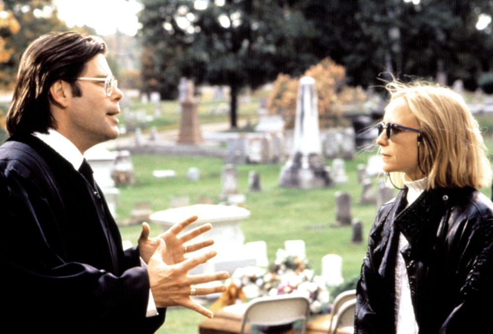 Stephen King et Mary Lambert sur le tournage de Simetierre
